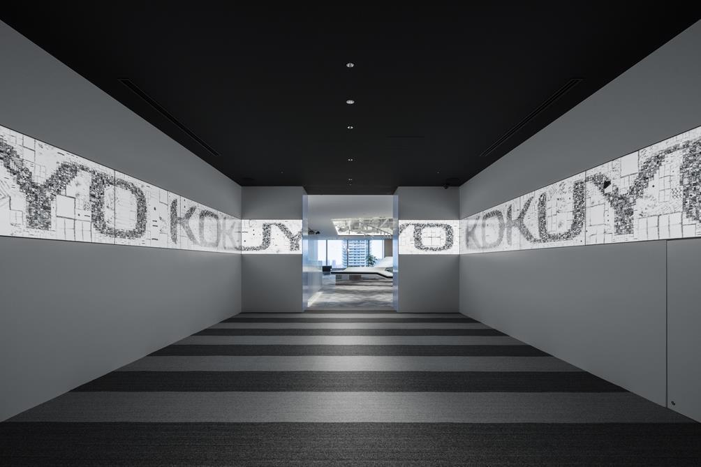 デジタルグラフィックを用いたオフィス入口