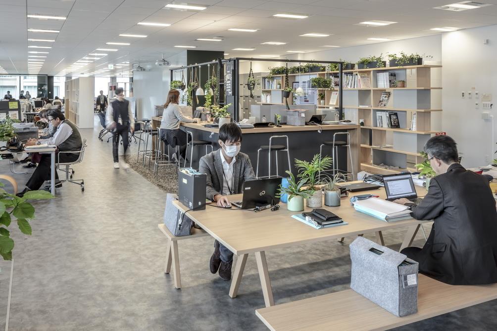 オープンなオフィス