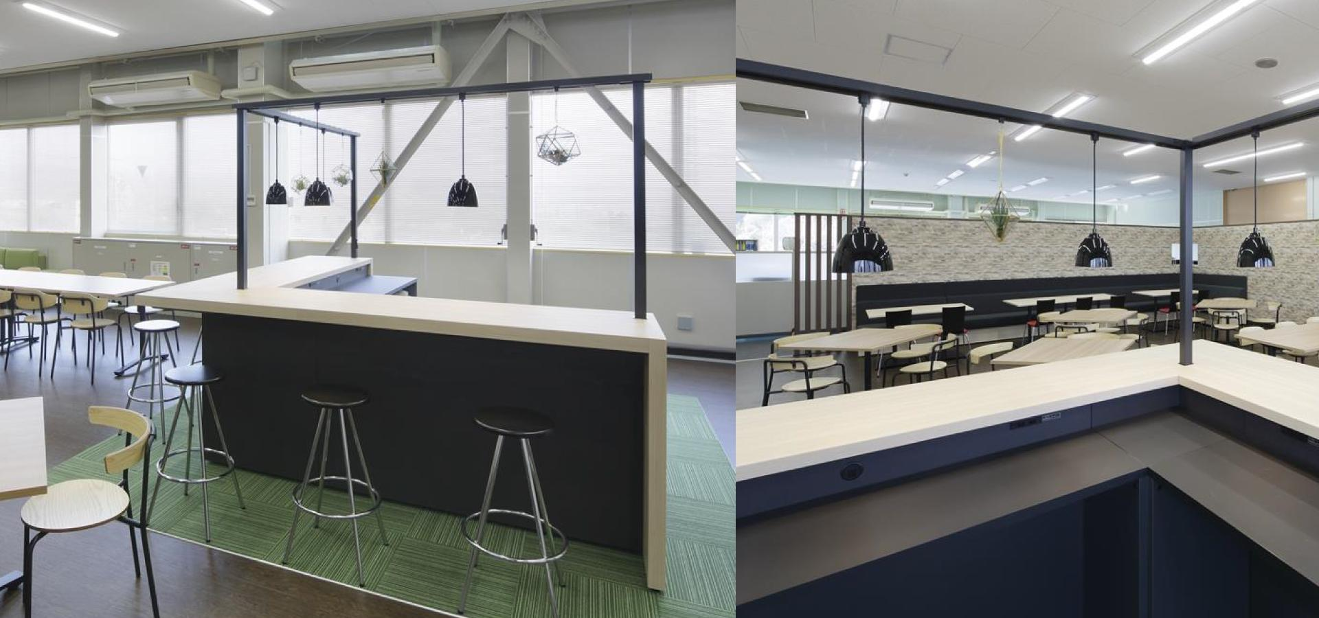 東レエンジニアリング様のオフィスカフェ事例