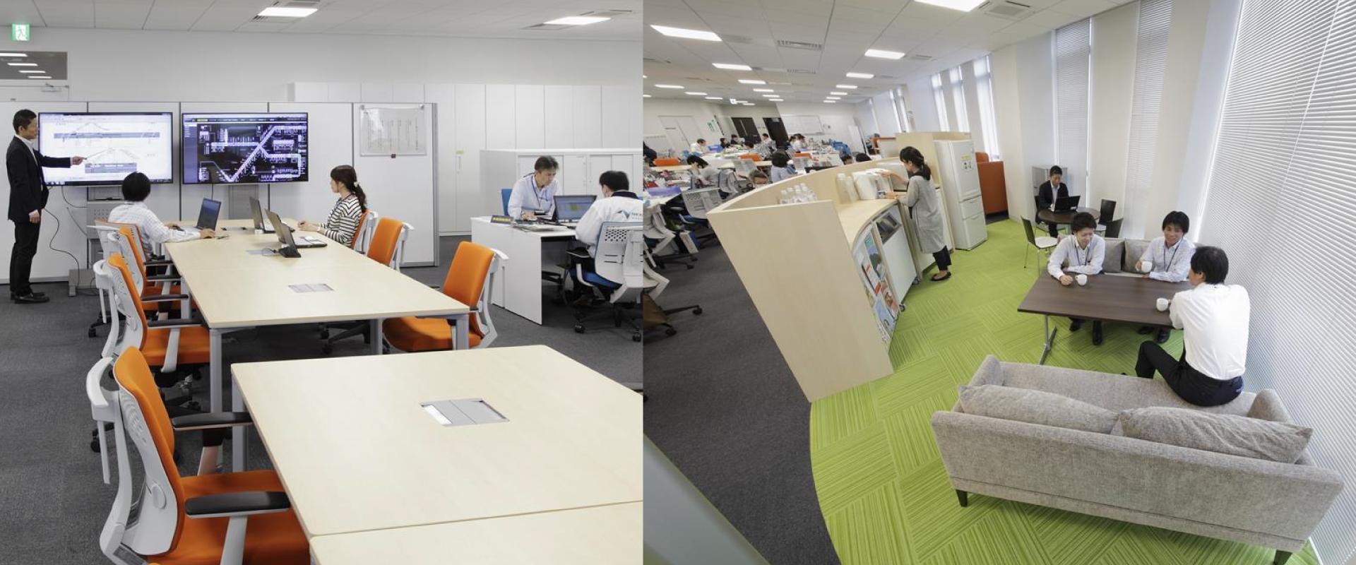 西日本高速道路様のおしゃれなオフィス