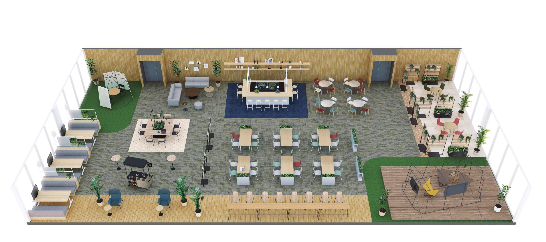 オフィスのゾーニング計画